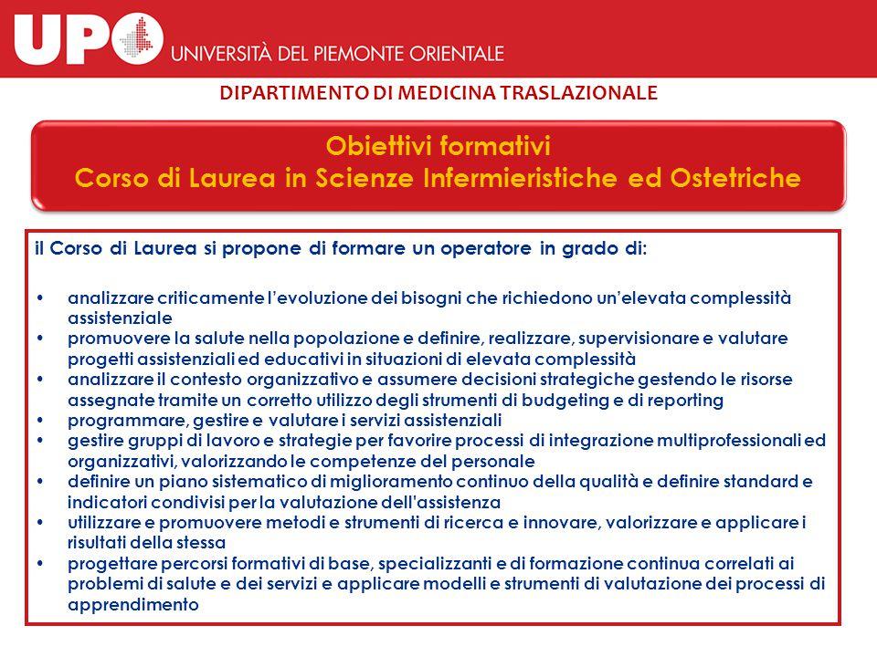 Corso di Laurea Magistrale in Scienze Infermieristiche ed Ostetriche