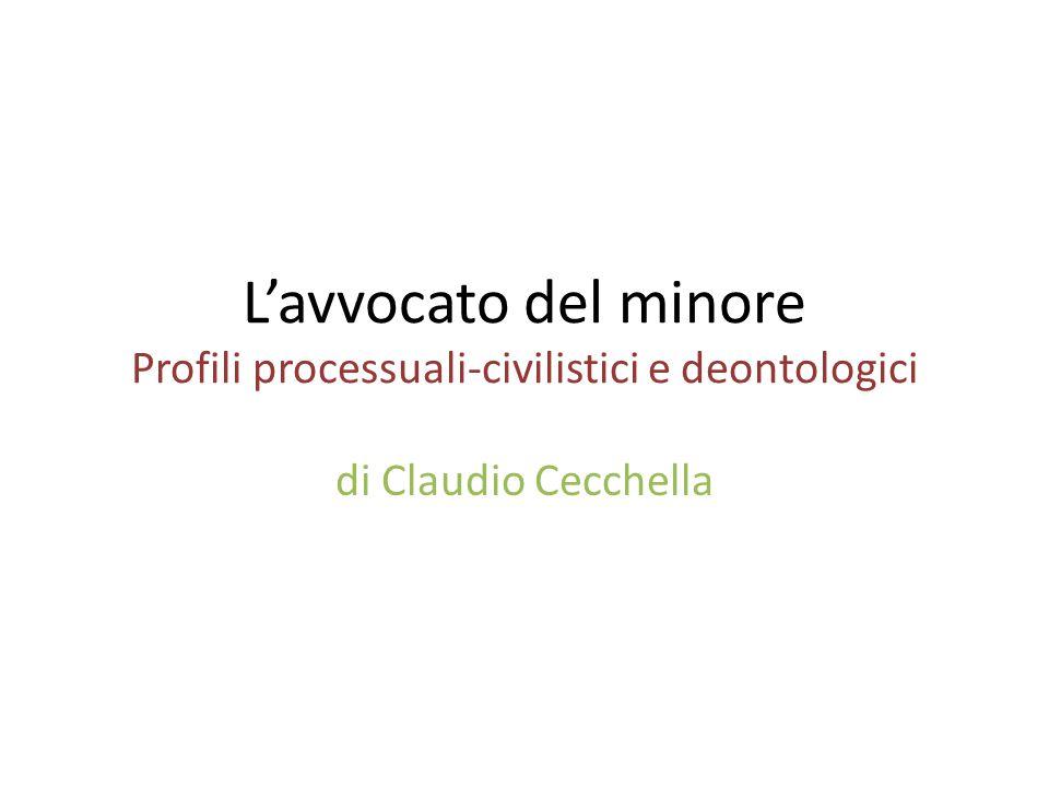 L'avvocato del minore Profili processuali-civilistici e deontologici