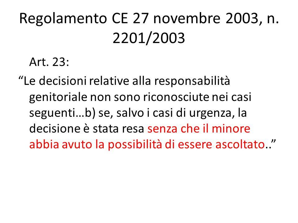 Regolamento CE 27 novembre 2003, n. 2201/2003