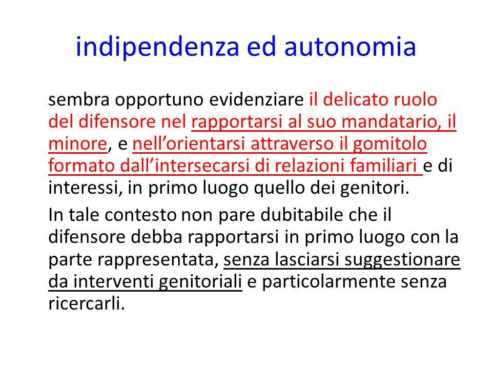 indipendenza ed autonomia