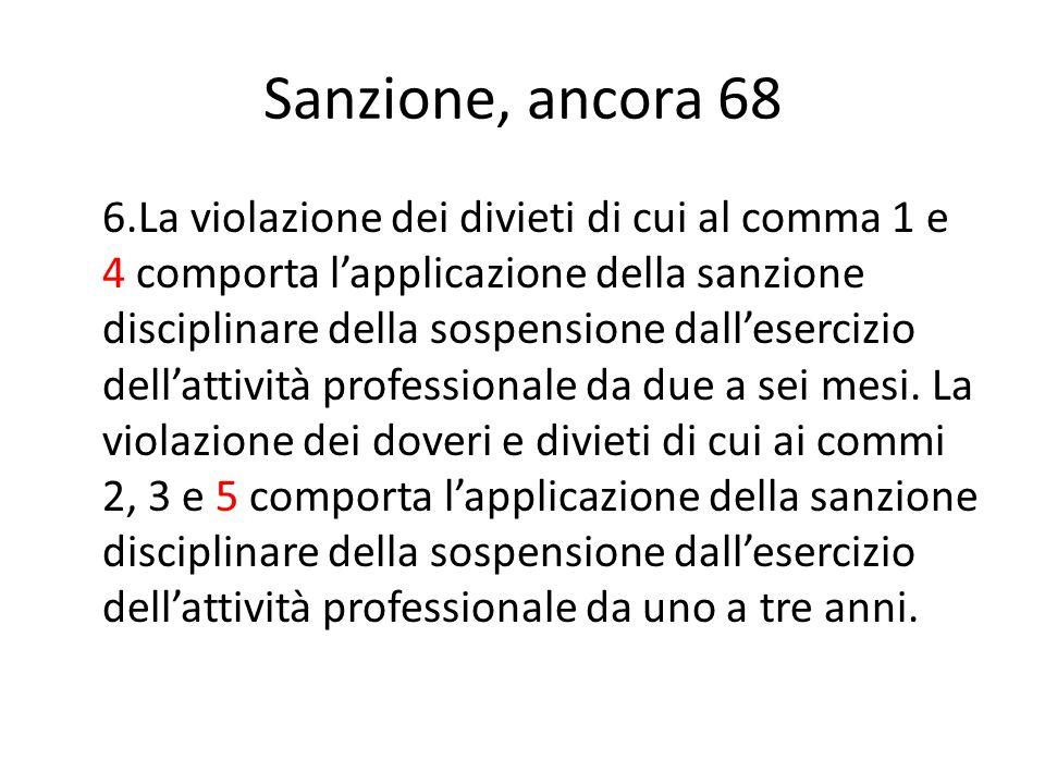 Sanzione, ancora 68