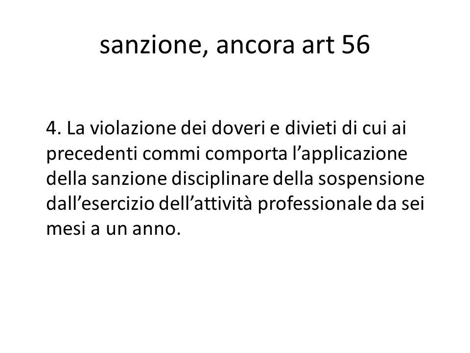 sanzione, ancora art 56