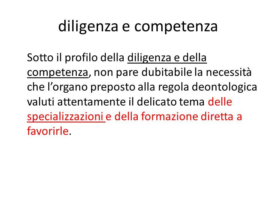 diligenza e competenza