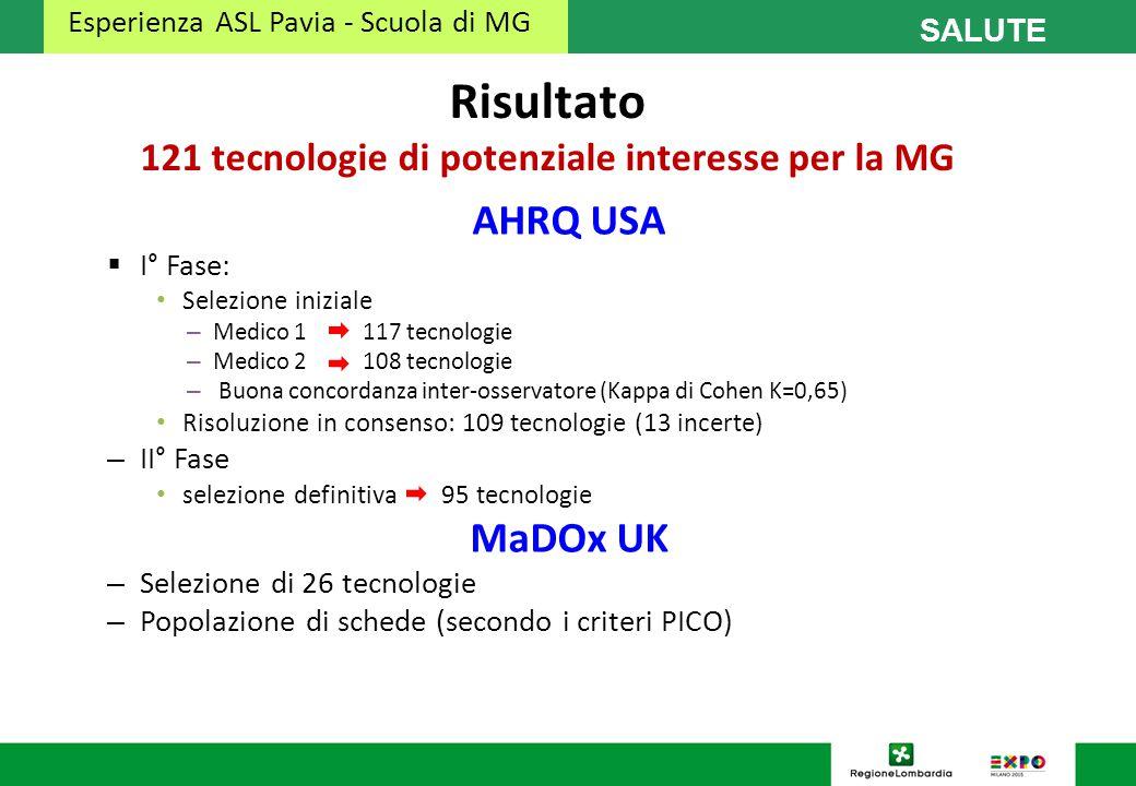 Risultato 121 tecnologie di potenziale interesse per la MG