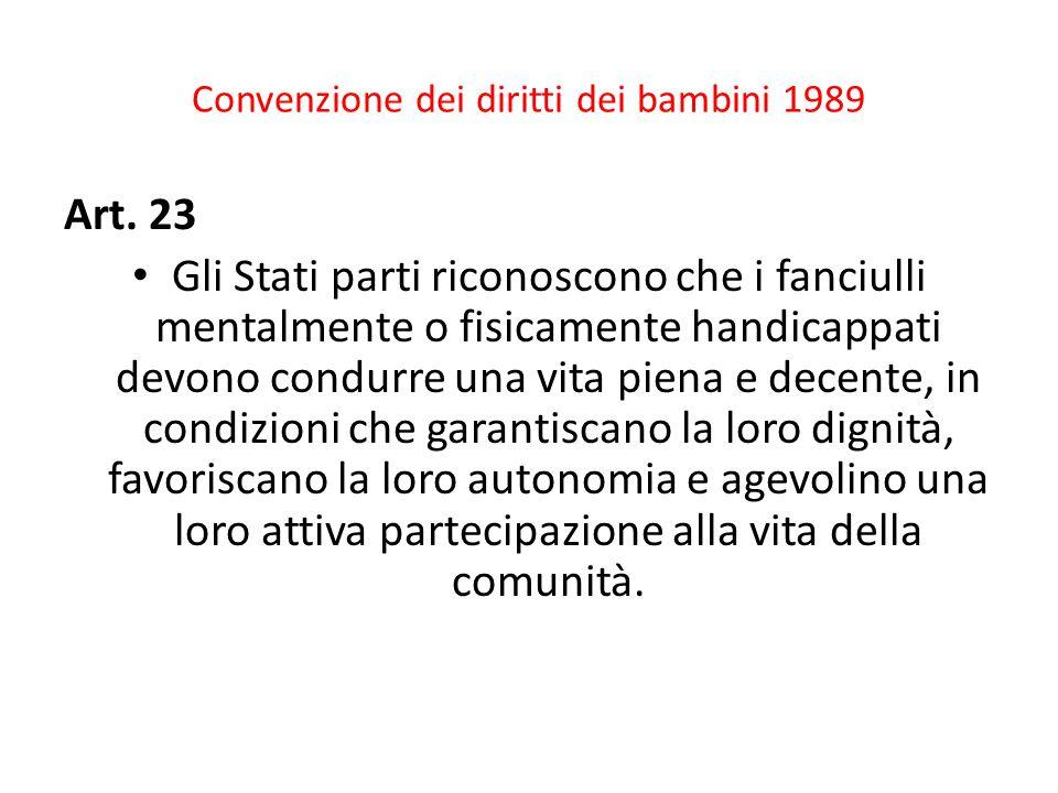 Convenzione dei diritti dei bambini 1989