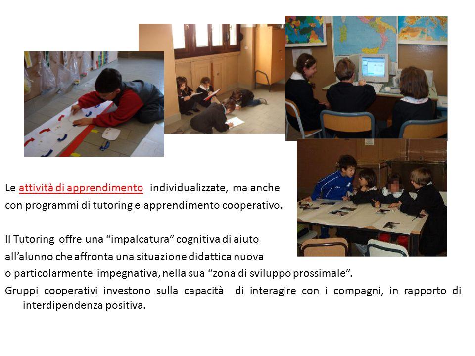 Le attività di apprendimento individualizzate, ma anche
