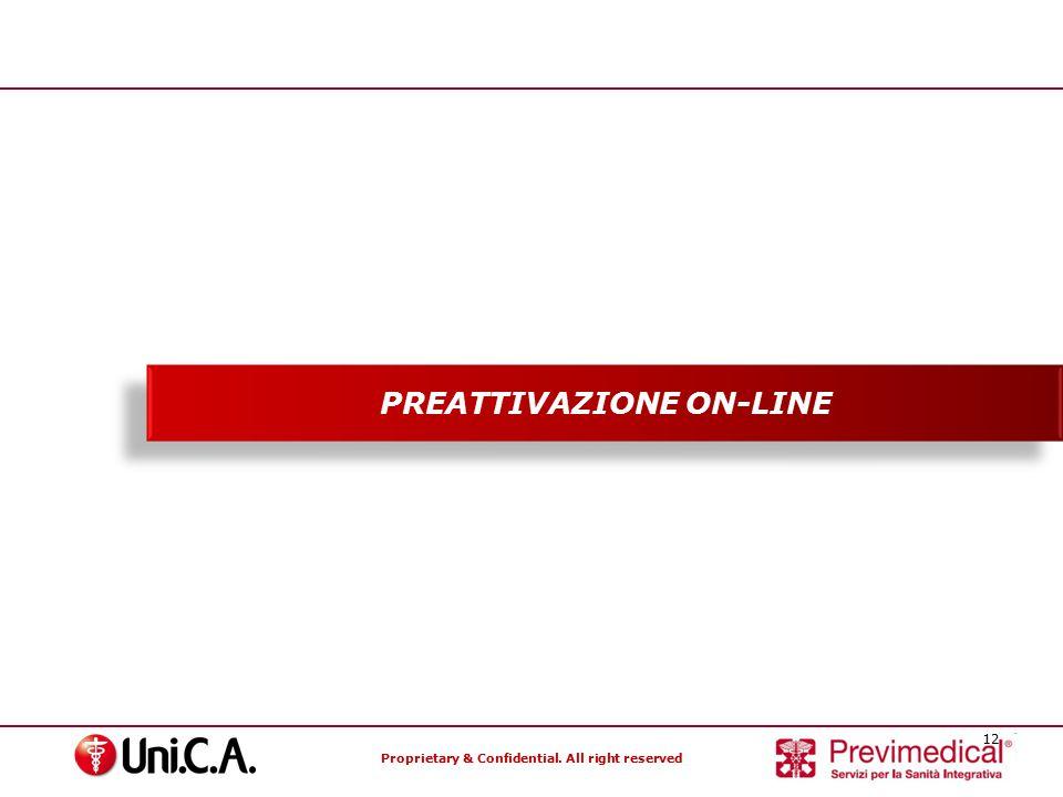 PREATTIVAZIONE ON-LINE