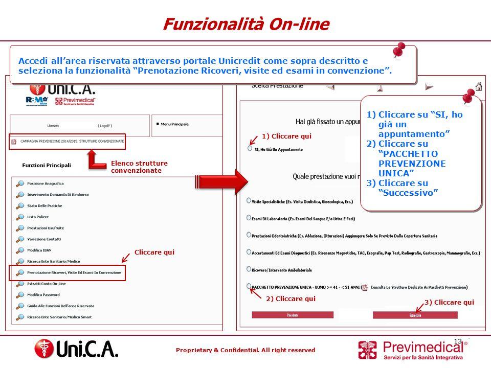 Funzionalità On-line Accedi all'area riservata attraverso portale Unicredit come sopra descritto e.