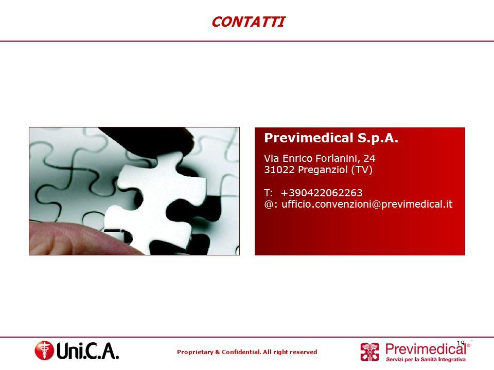 CONTATTI Previmedical S.p.A. Via Enrico Forlanini, 24