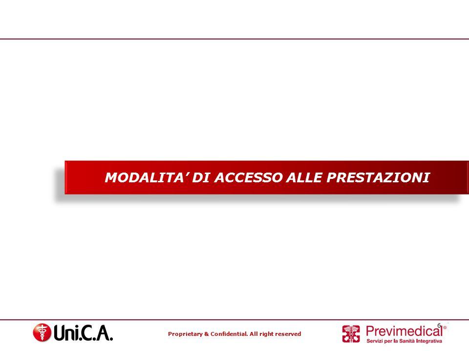 MODALITA' DI ACCESSO ALLE PRESTAZIONI