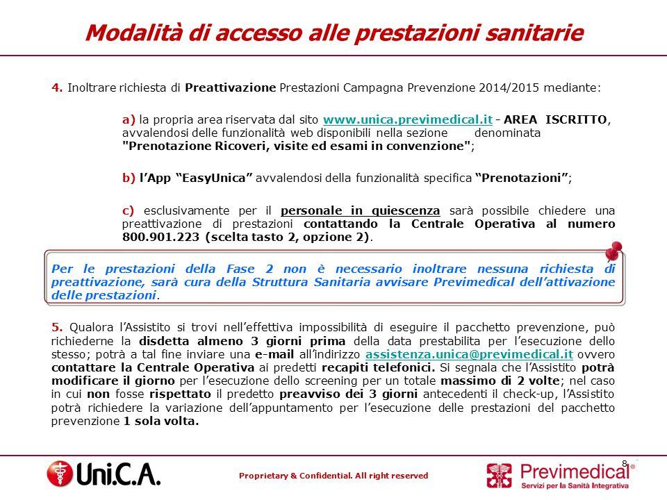Modalità di accesso alle prestazioni sanitarie