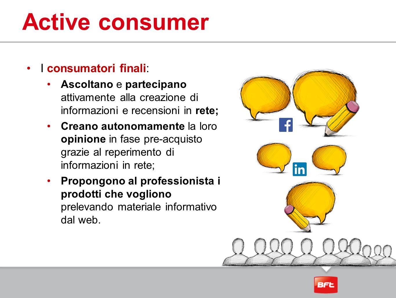 Active consumer I consumatori finali: