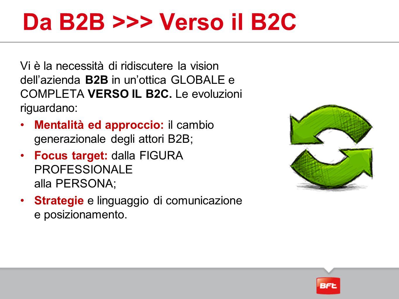 Da B2B >>> Verso il B2C