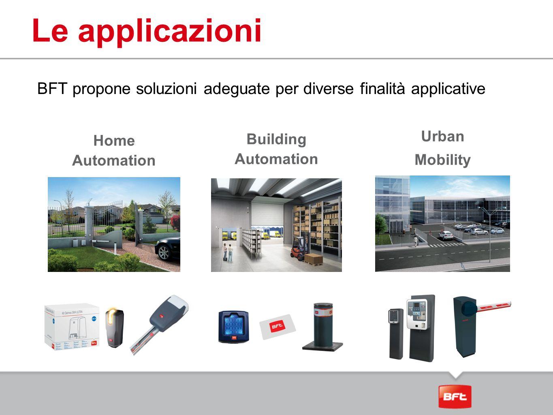 Le applicazioni BFT propone soluzioni adeguate per diverse finalità applicative. Urban. Mobility.