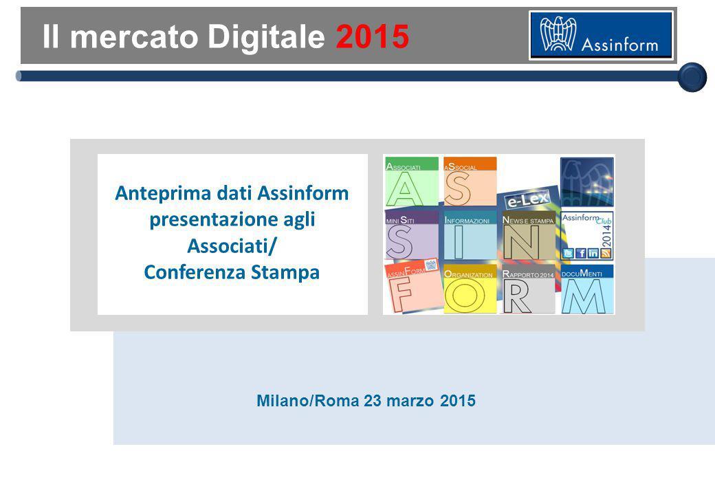 Il mercato digitale nel Mondo nel 2014
