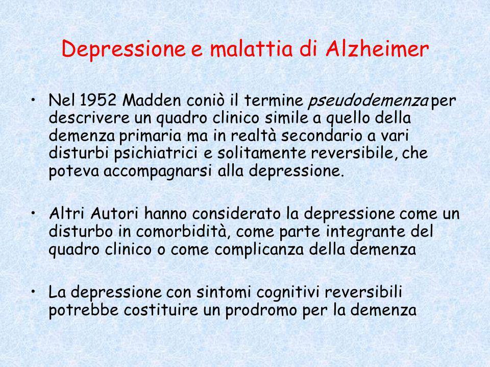Depressione e malattia di Alzheimer