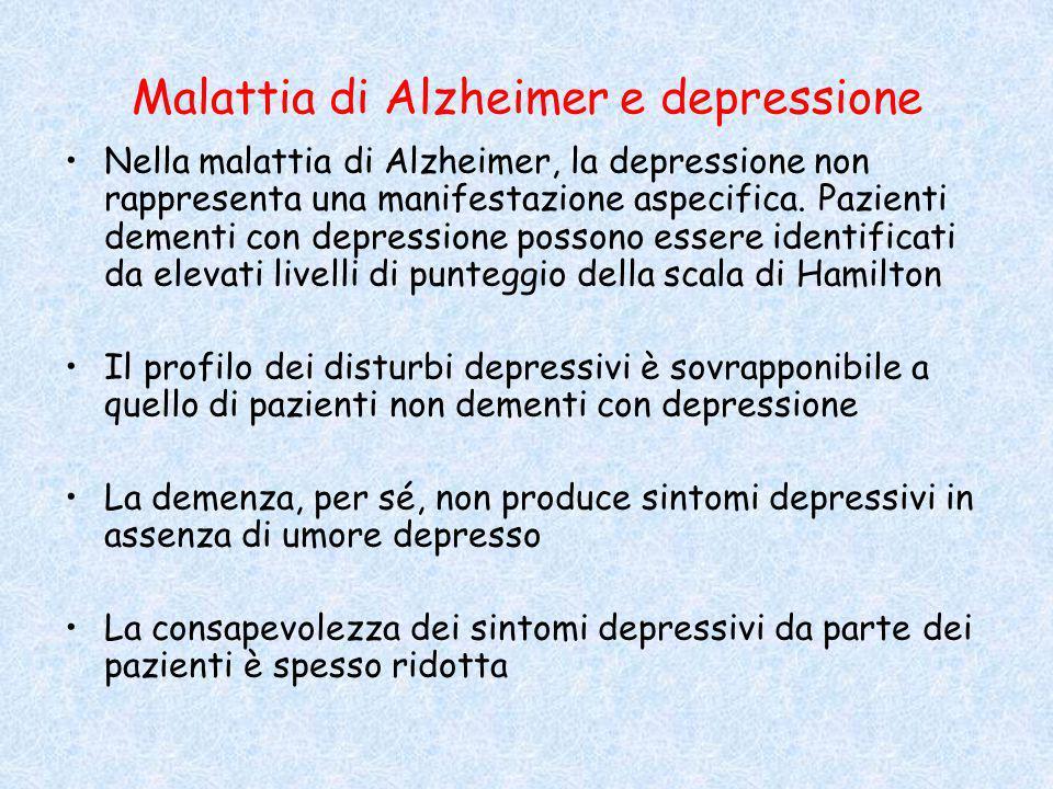 Malattia di Alzheimer e depressione