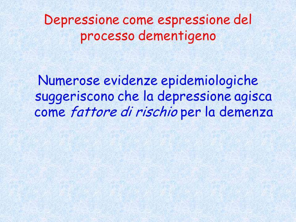 Depressione come espressione del processo dementigeno