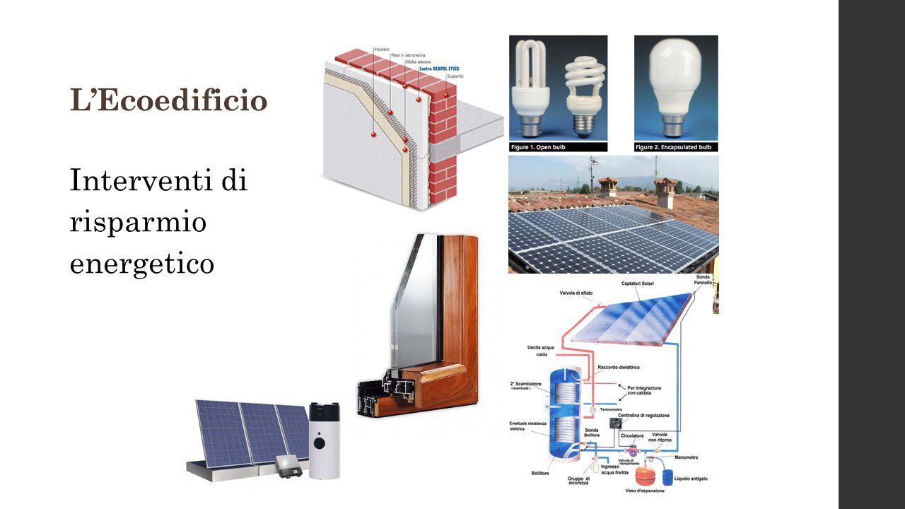 L'Ecoedificio Interventi di risparmio energetico