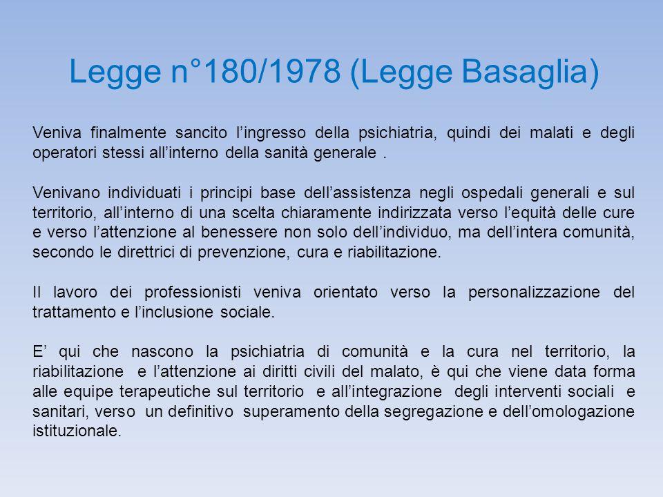 Legge n°180/1978 (Legge Basaglia)