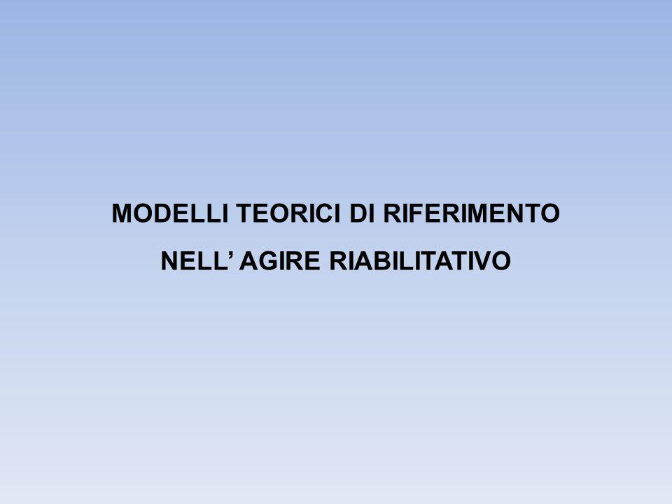 MODELLI TEORICI DI RIFERIMENTO NELL' AGIRE RIABILITATIVO