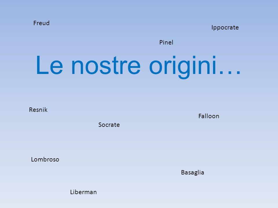 Le nostre origini… Freud Ippocrate Pinel Resnik Falloon Socrate