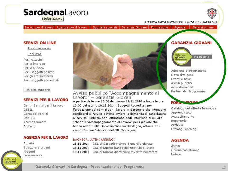 Garanzia Giovani in Sardegna – Presentazione del Programma
