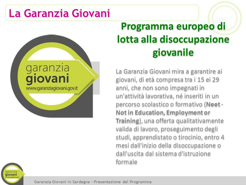 Programma europeo di lotta alla disoccupazione giovanile