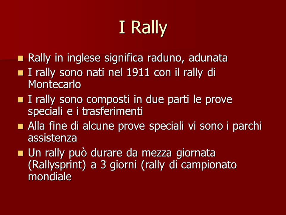I Rally Rally in inglese significa raduno, adunata