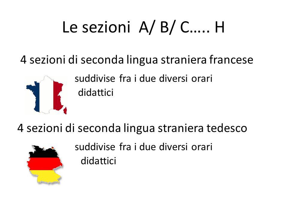 Le sezioni A/ B/ C….. H