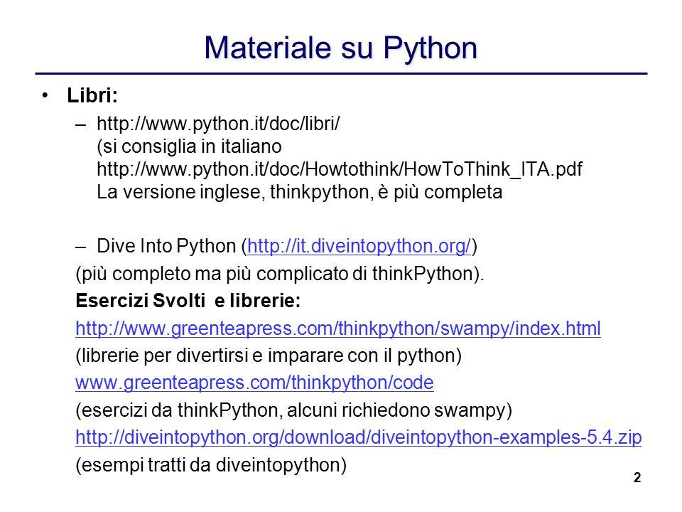 Materiale su Python Libri: