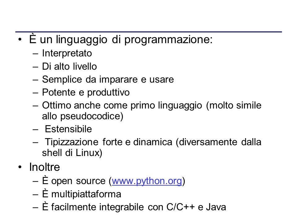 È un linguaggio di programmazione:
