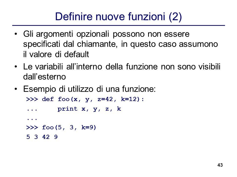 Definire nuove funzioni (2)