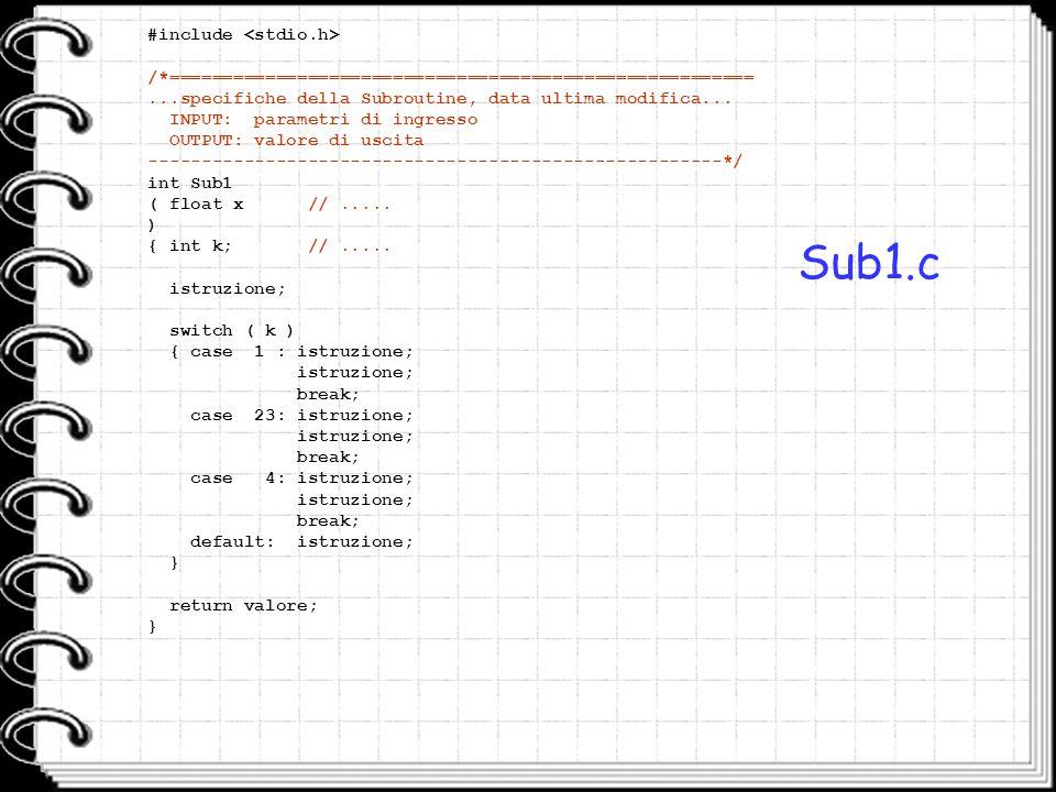 Sub1.c #include <stdio.h>