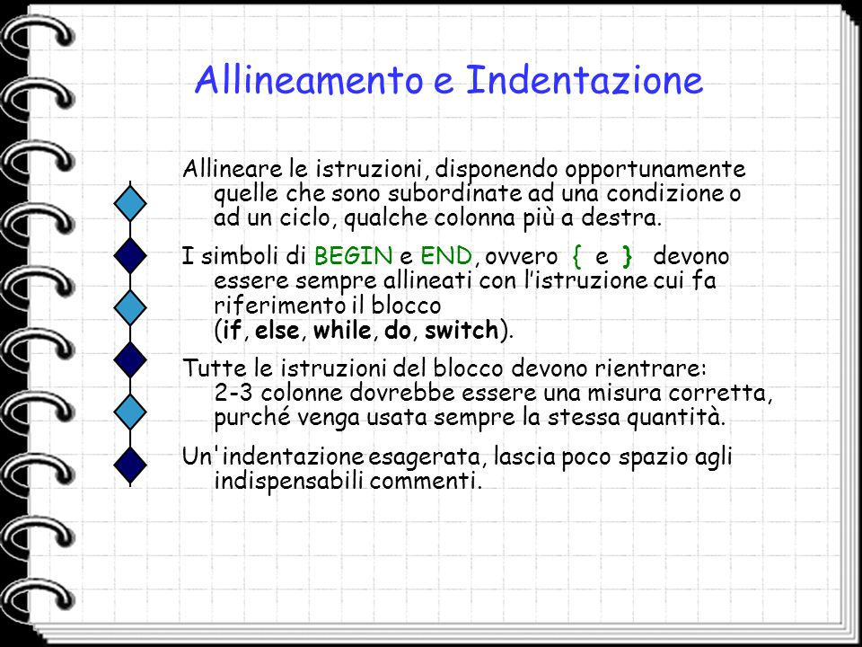 Allineamento e Indentazione