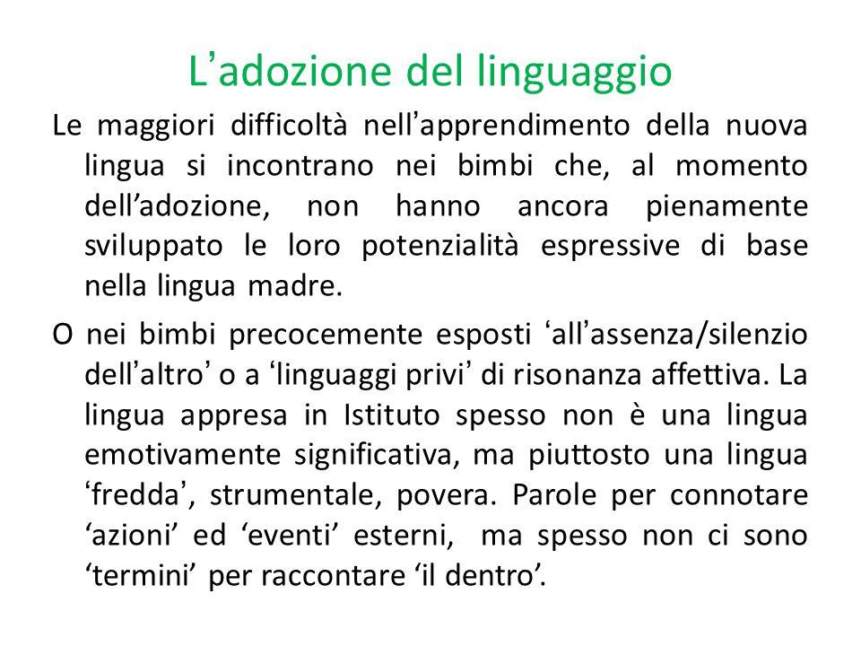 L'adozione del linguaggio