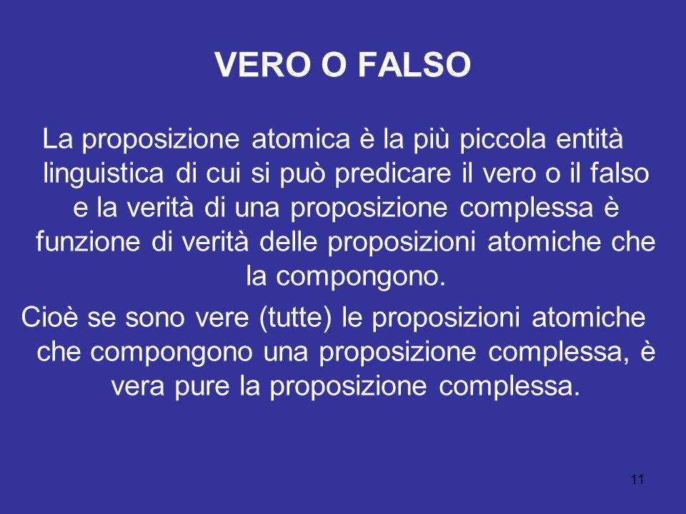 VERO O FALSO