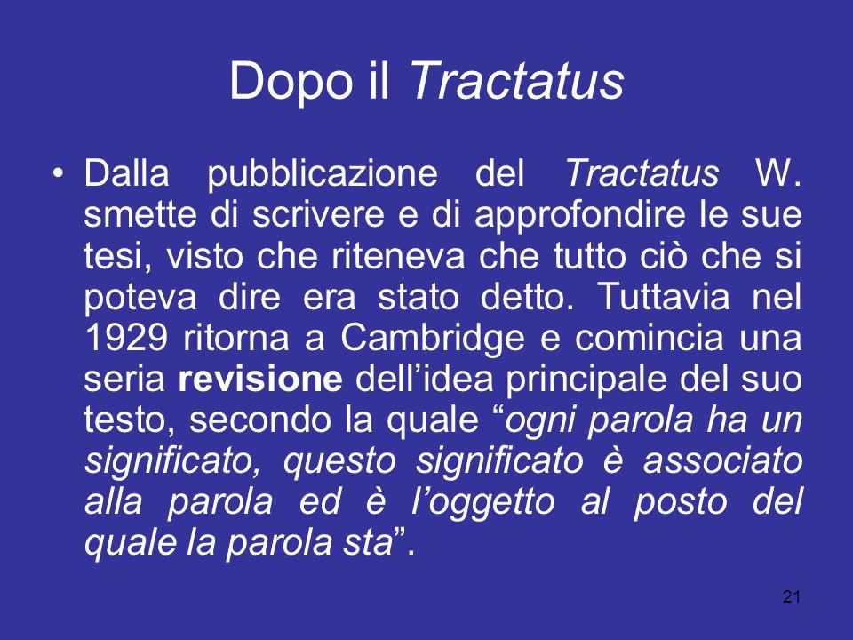 Dopo il Tractatus