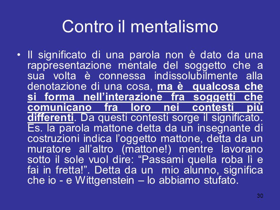 Contro il mentalismo