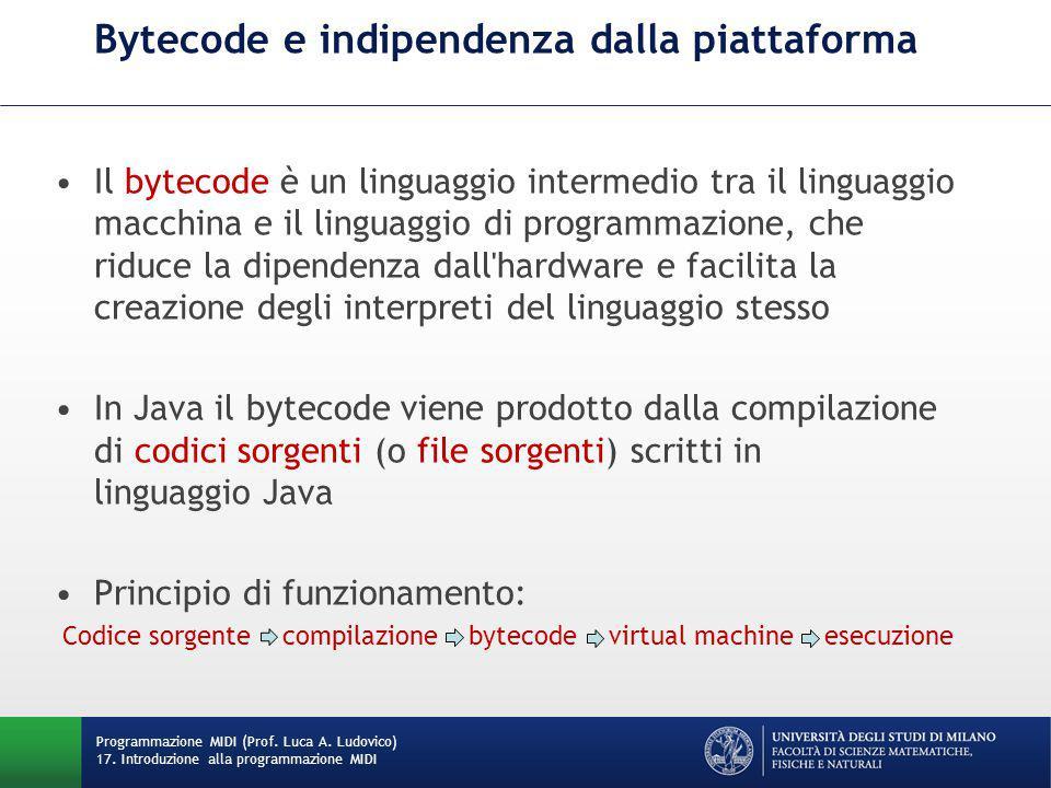 Bytecode e indipendenza dalla piattaforma