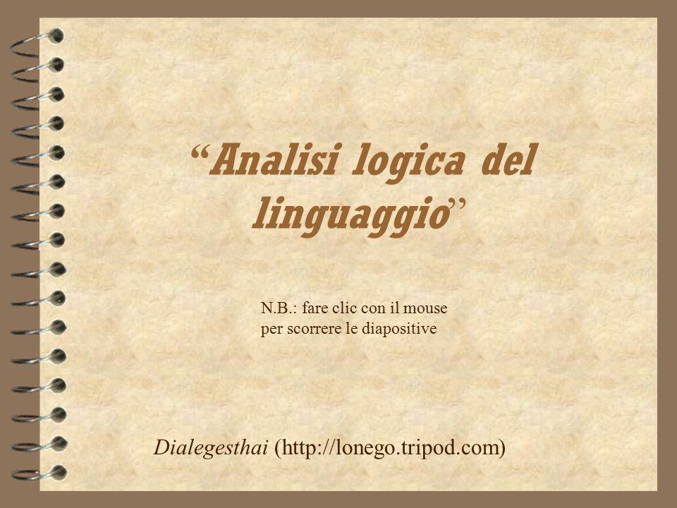 Analisi logica del linguaggio