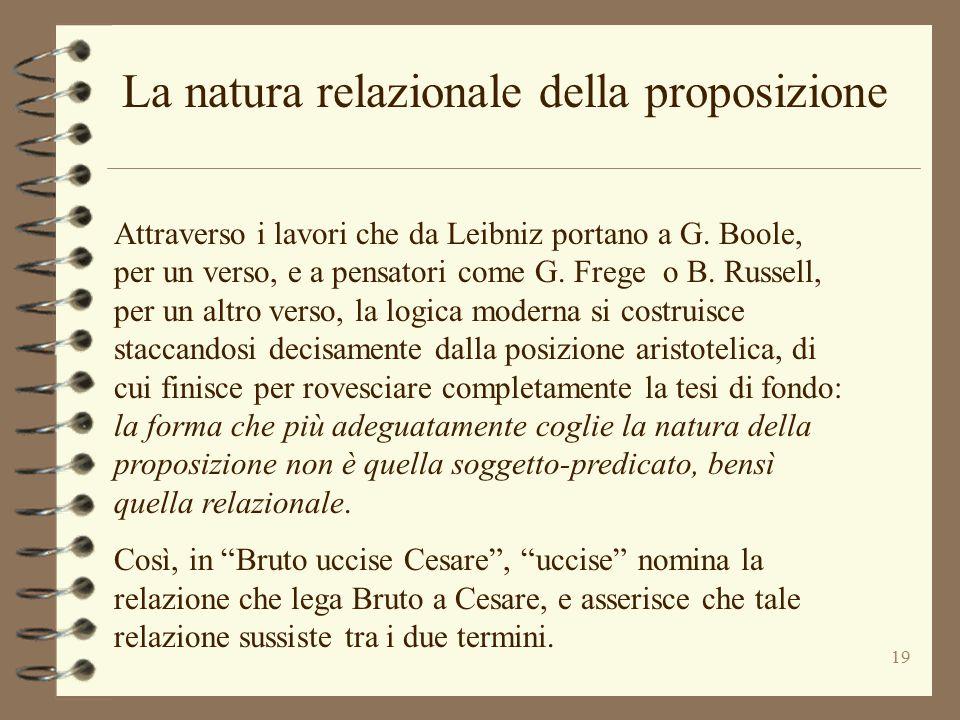 La natura relazionale della proposizione