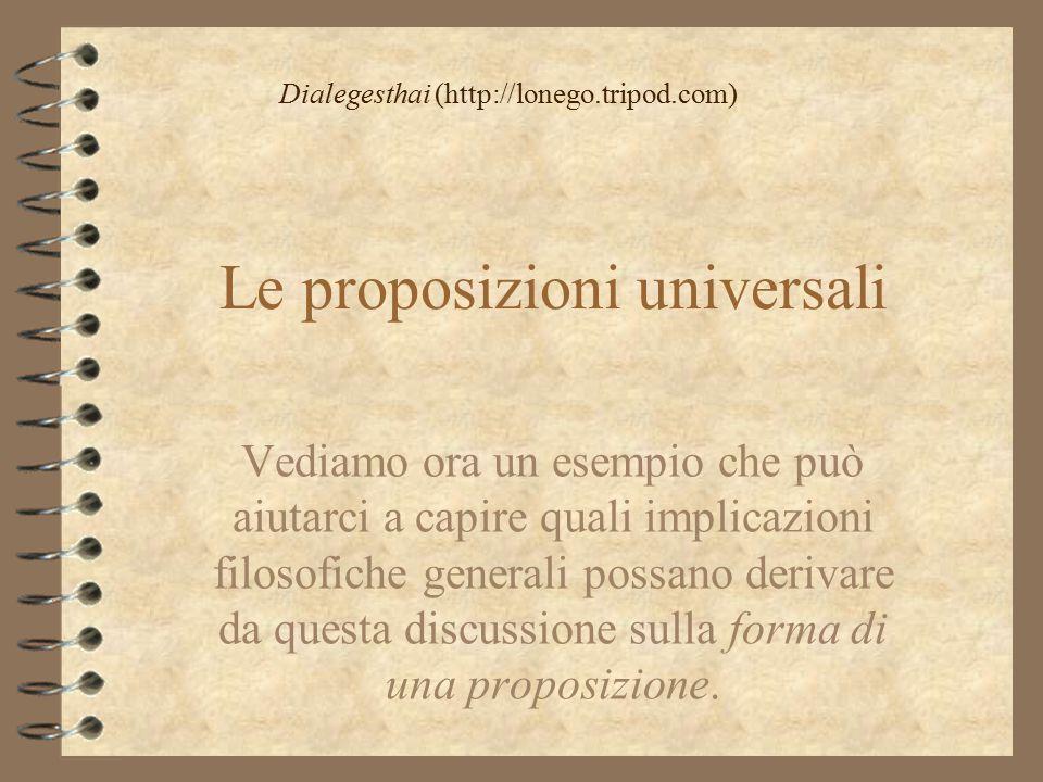 Le proposizioni universali