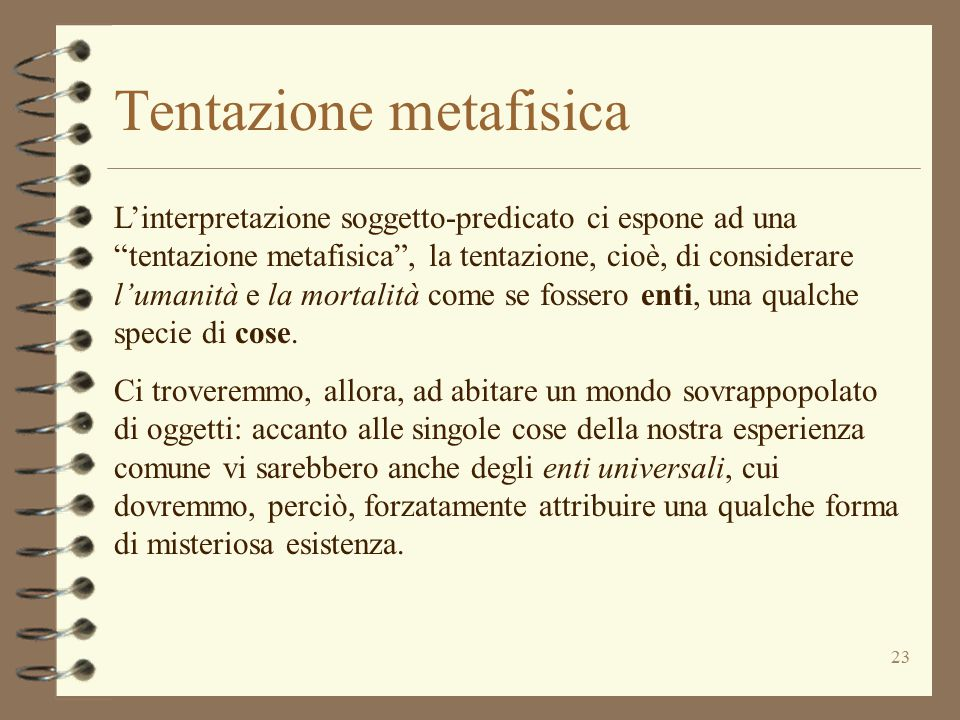 Tentazione metafisica