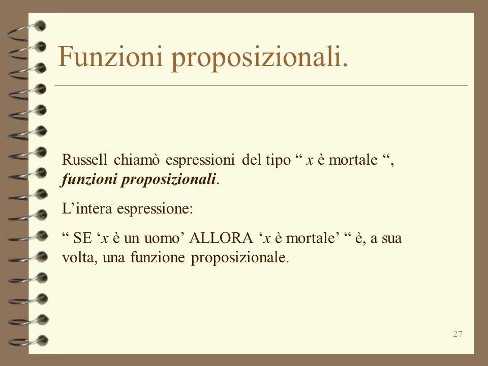 Funzioni proposizionali.