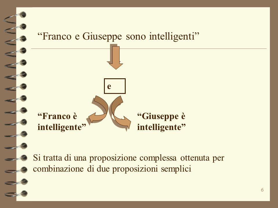 Franco e Giuseppe sono intelligenti