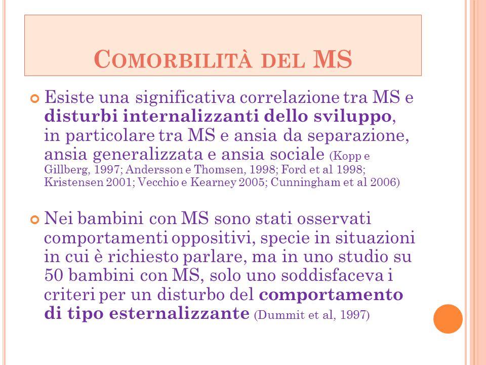 Comorbilità del MS