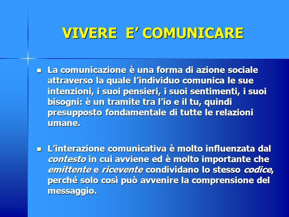 I LIVELLI DELLA COMUNICAZIONE La comunicazione avviene a tre livelli: