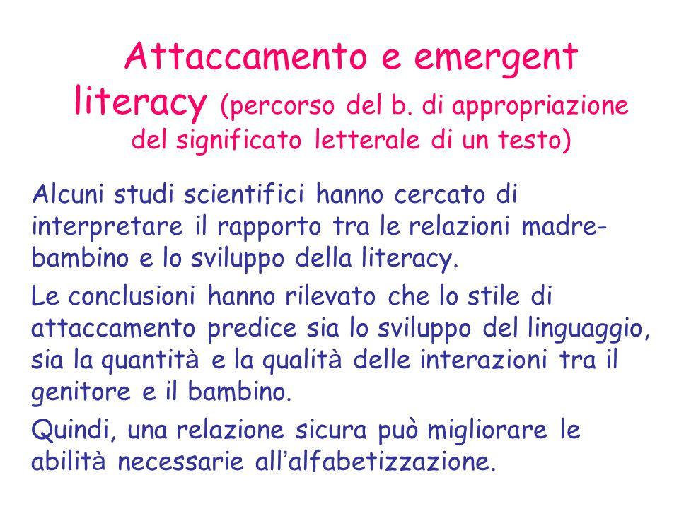 Attaccamento e emergent literacy (percorso del b