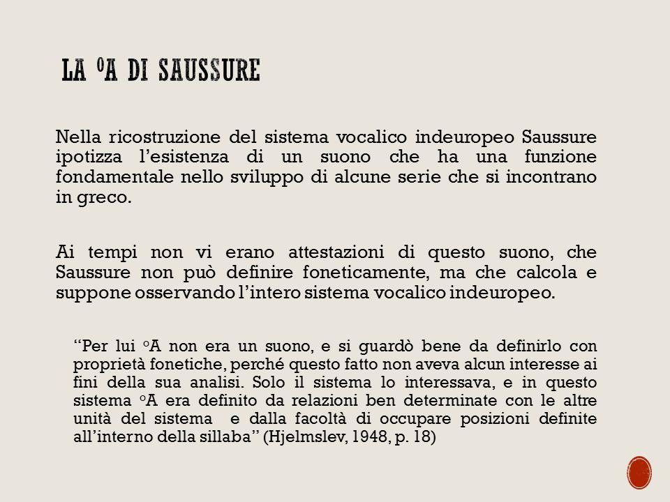 La oA di Saussure